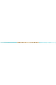 Jane Marie Seed Bead Necklace - Turquoise/Gold - Alternate List Image