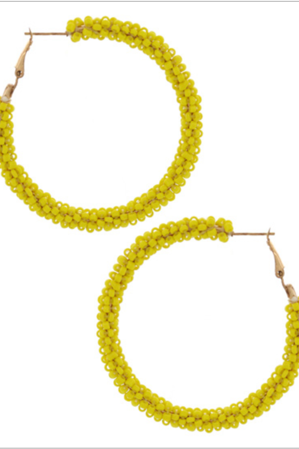 Bluebell Seed Beaded Hoops - Front Cropped Image
