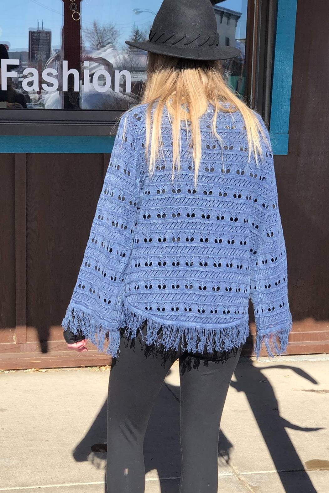 PBJ Blues Seed Stich Pull over - Side Cropped Image