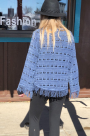 PBJ Blues Seed Stich Pull over - Side cropped
