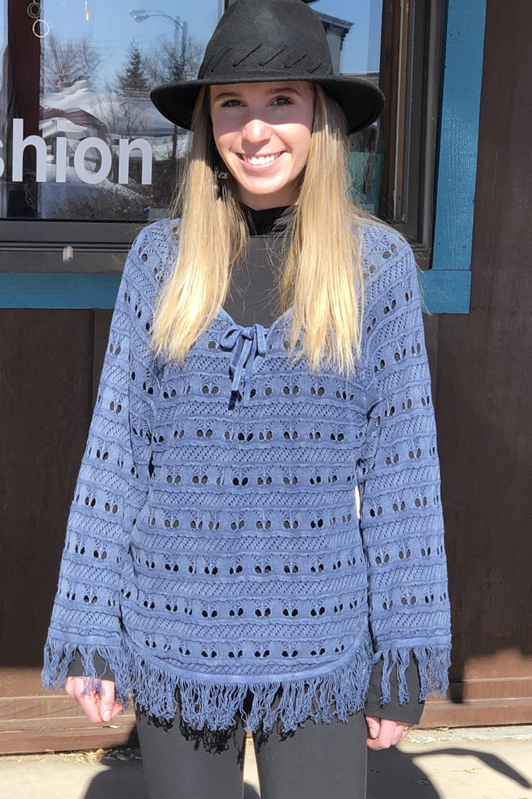 PBJ Blues Seed Stich Pull over - Main Image
