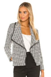 BB Dakota Seeing Things Tweed Jacket In Black - Front cropped