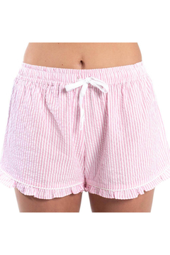 Bella il Fiore SEERSUCKER SHORTS WITH RUFFLE - Product List Image
