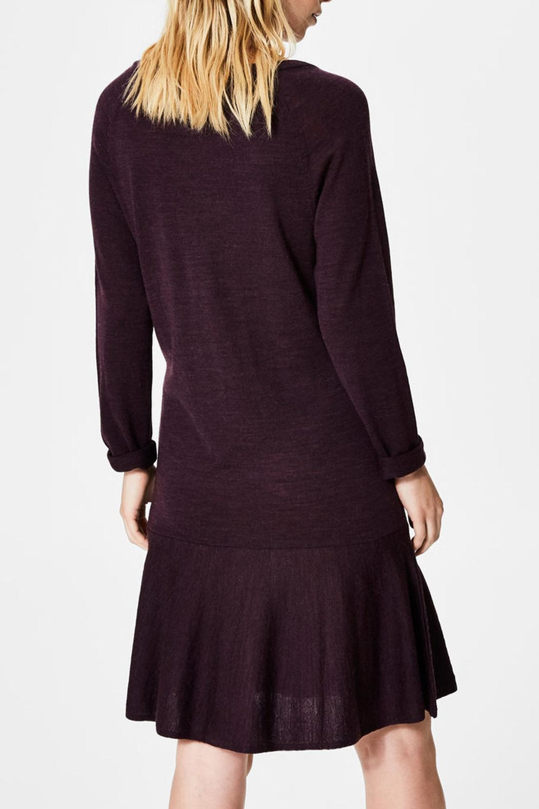 Selected Femme Merino Wool Dress - Side Cropped Image