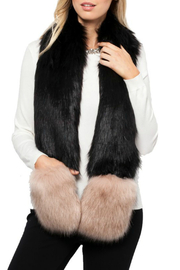 love token Selena Faux Fur Trim Scarf w Pockets - Product Mini Image