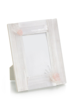 The Birds Nest SELENITE AND PINK QUARTZ FRAME - Product List Image