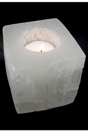 Rock Paradise Selenite Candle-Holder/planter - Product Mini Image