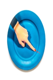 Seletti Porcelain Plate Nails - Front cropped