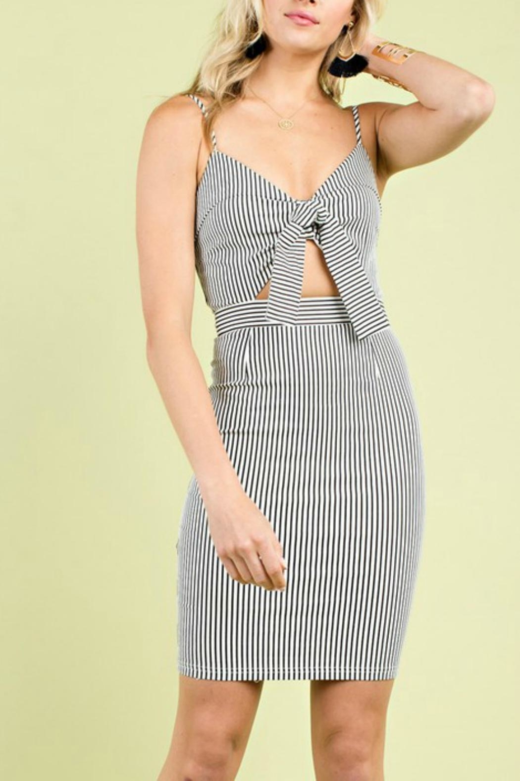 Pretty Little Things Self Tie Dress - Front Cropped Image
