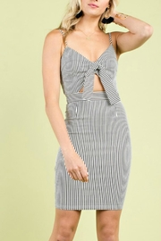 Pretty Little Things Self Tie Dress - Front cropped