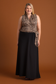 VKY & CO Self-Tie Maxi Dress with Side Slit - Product Mini Image
