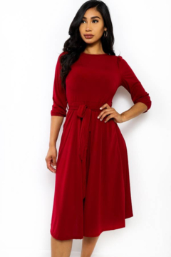 H&H Fashion Self Tie Midi Dress - Product List Image
