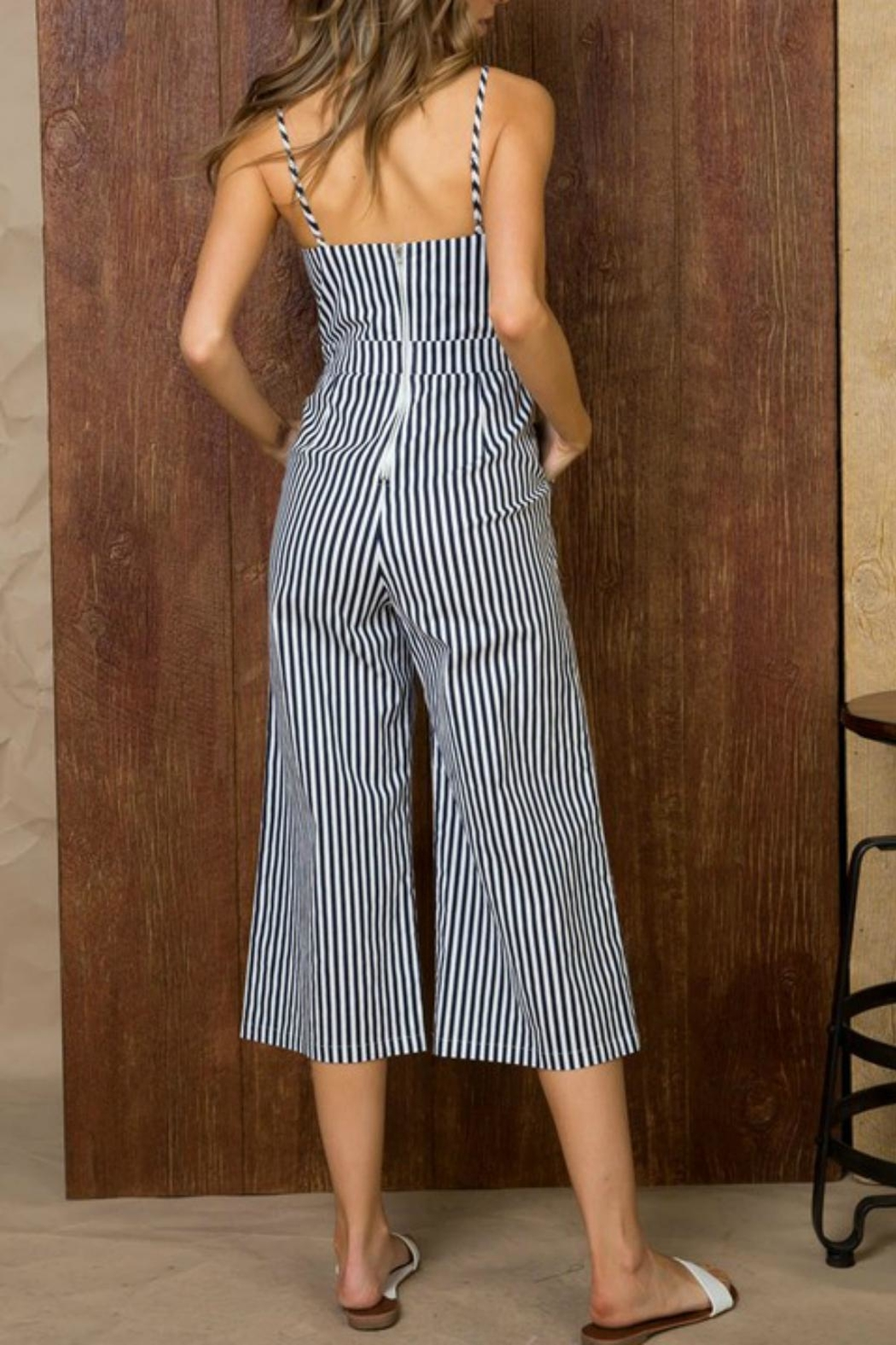 Pretty Little Things Self-Tie Midi Jumpsuit - Front Full Image
