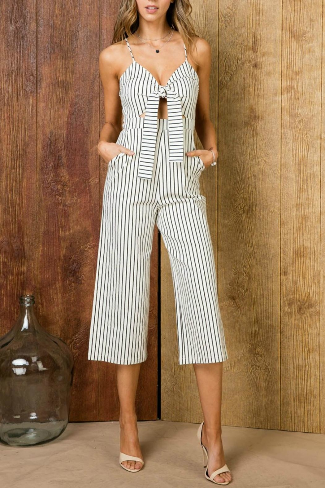 Pretty Little Things Self-Tie Midi Jumpsuit - Main Image
