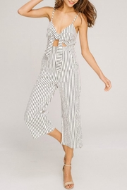 Pretty Little Things Self Tie Romper - Front cropped