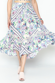 Selfie Leslie Floral Peasant Skirt - Product Mini Image