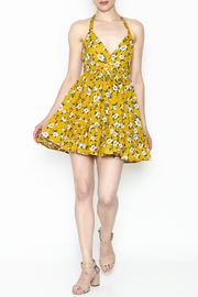 Selfie Leslie Yellow Floral Dress - Product Mini Image