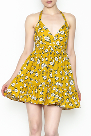 Selfie Leslie Yellow Floral Dress - Front cropped