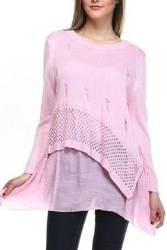 Shoptiques Product: Asymmetrical Muslin Layered Knit