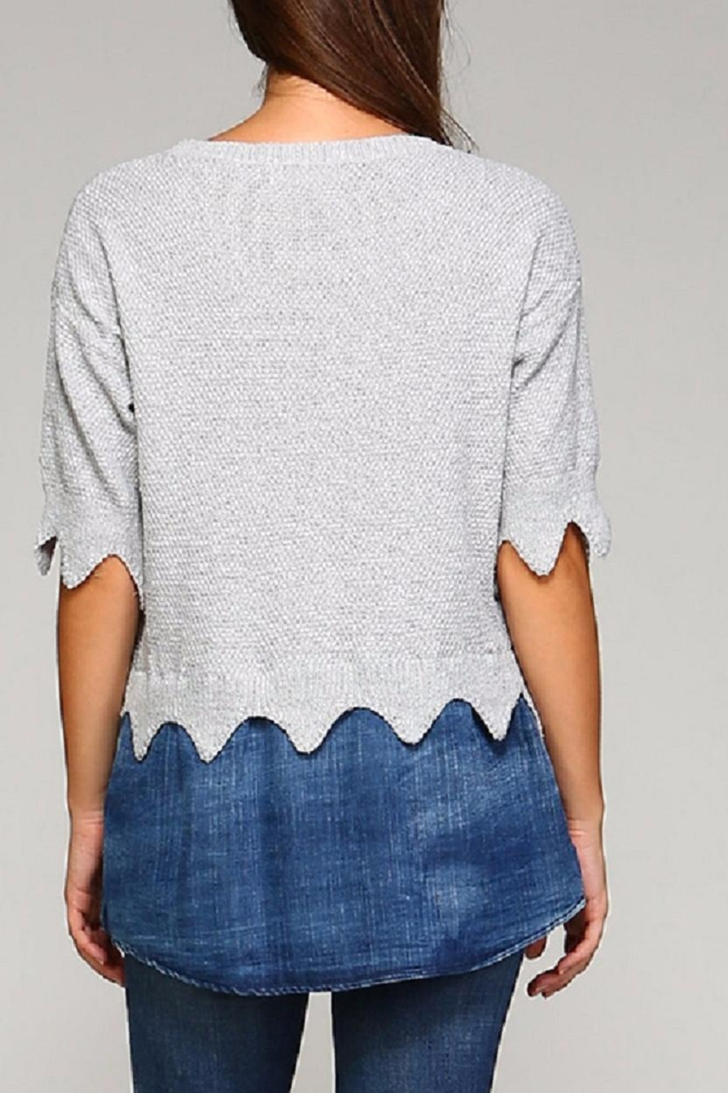 Selfie Couture Denim Sweater Combo - Side Cropped Image