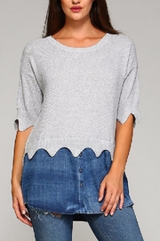 Selfie Couture Denim Sweater Combo - Front cropped