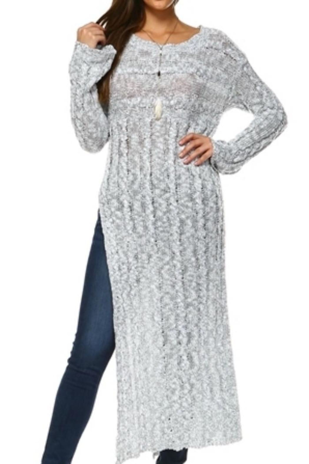 Selfie Couture Floor-Length Cable Sweater - Main Image