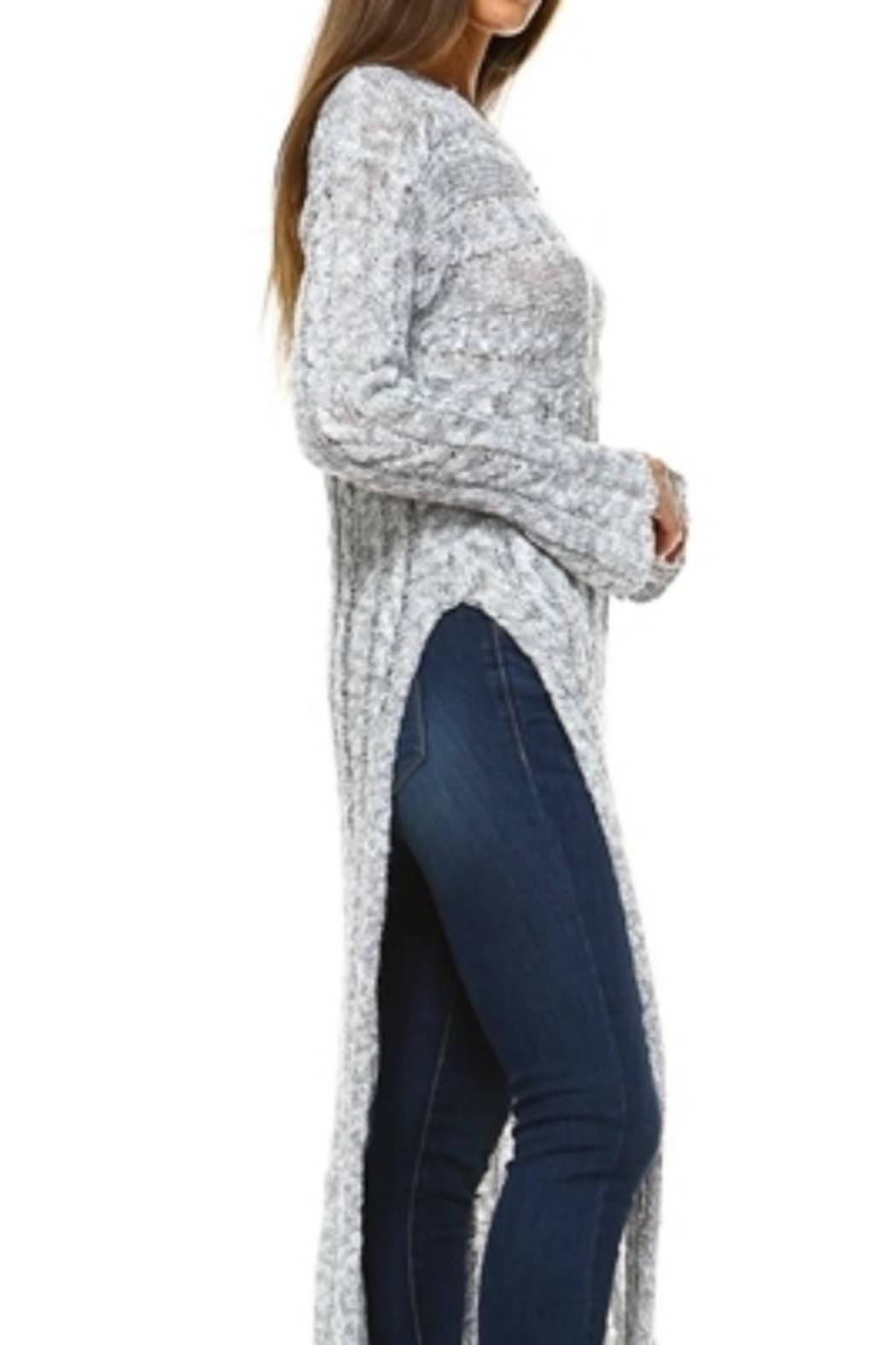 Selfie Couture Floor-Length Cable Sweater - Front Full Image