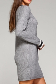Selfie Couture Grey Varsity Sweater Dress - Side cropped