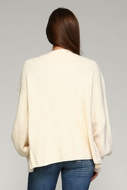 Selfie Couture Ivory Cardigan - Back cropped
