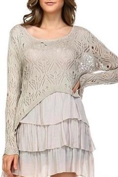 Shoptiques Product: Knit & Muslin Layered Top
