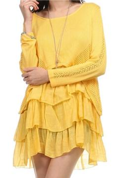 Selfie Couture Layered Knit Tunic - Product List Image