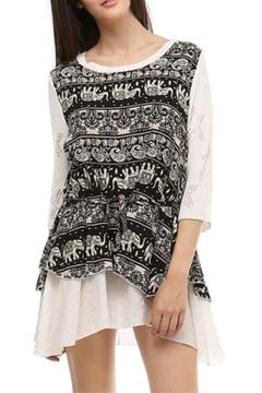 Selfie Couture Layered Muslin Tunic - Product List Image