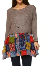 Selfie Couture Layered-Skirted Sweater - Front cropped