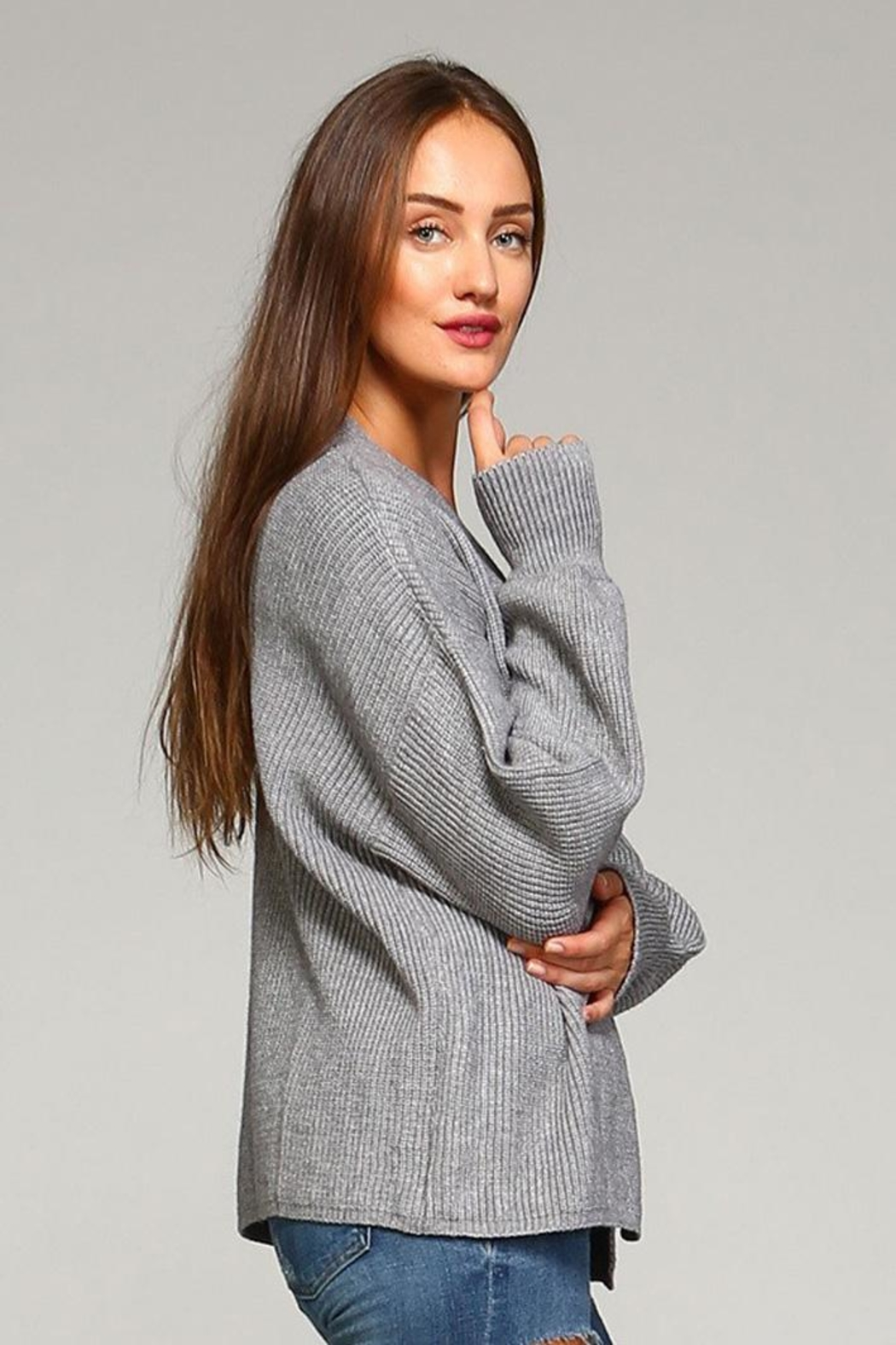Selfie Couture Open Front Cardigan - Front Full Image