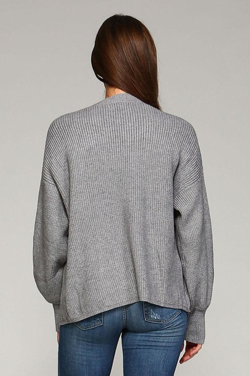 Selfie Couture Open Front Cardigan - Side Cropped Image
