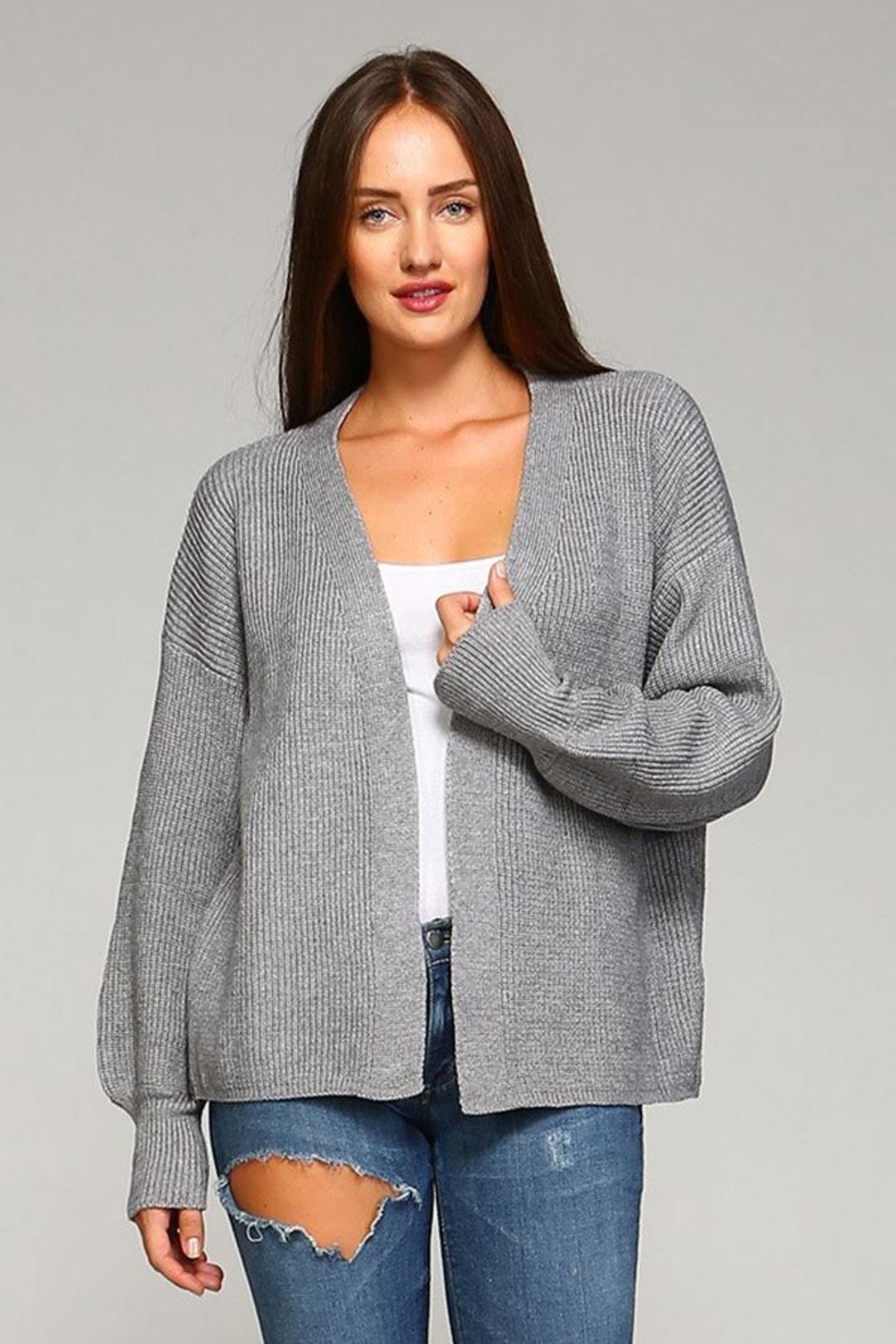 Selfie Couture Open Front Cardigan - Main Image