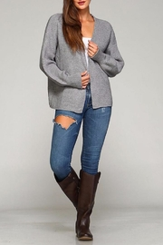 Selfie Couture Kelly Open Front Cardigan - Front full body
