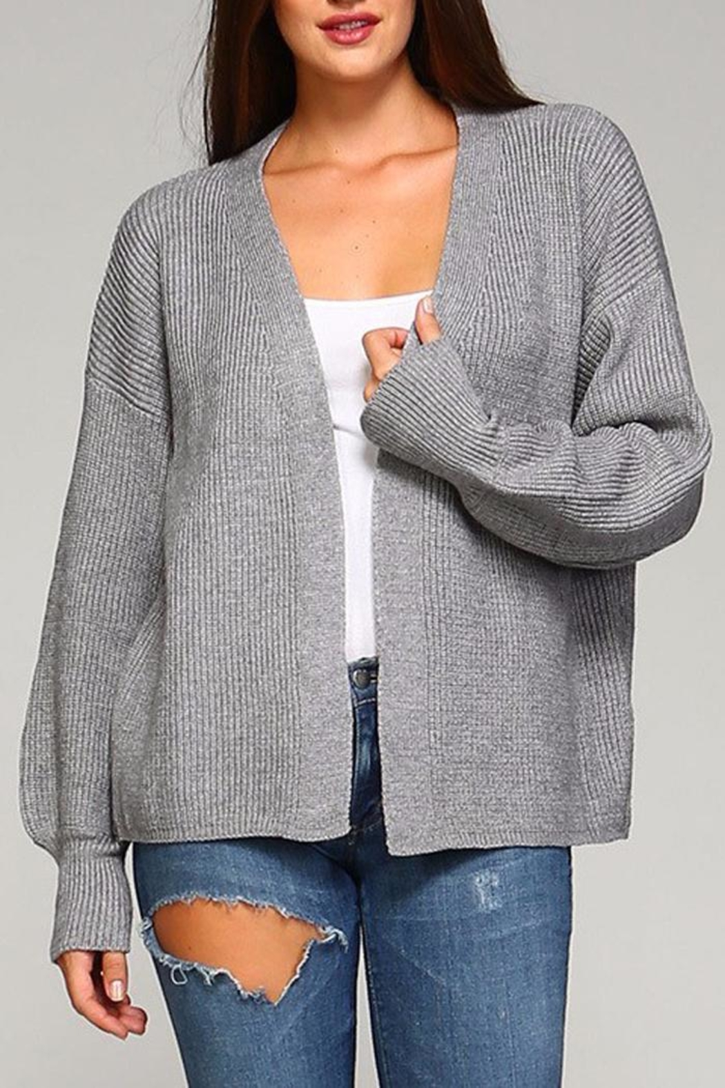 Selfie Couture Kelly Open Front Cardigan - Main Image