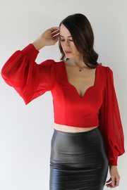Selfie Leslie Foxy Mama Blouse - Back cropped
