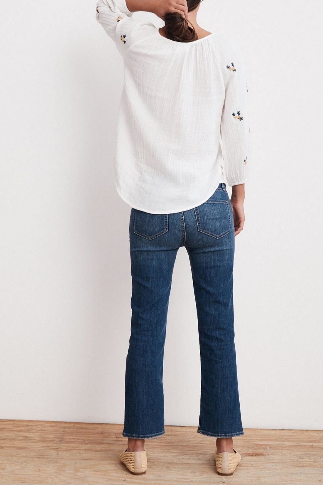 Velvet Selma Embroidered Top - Side Cropped Image