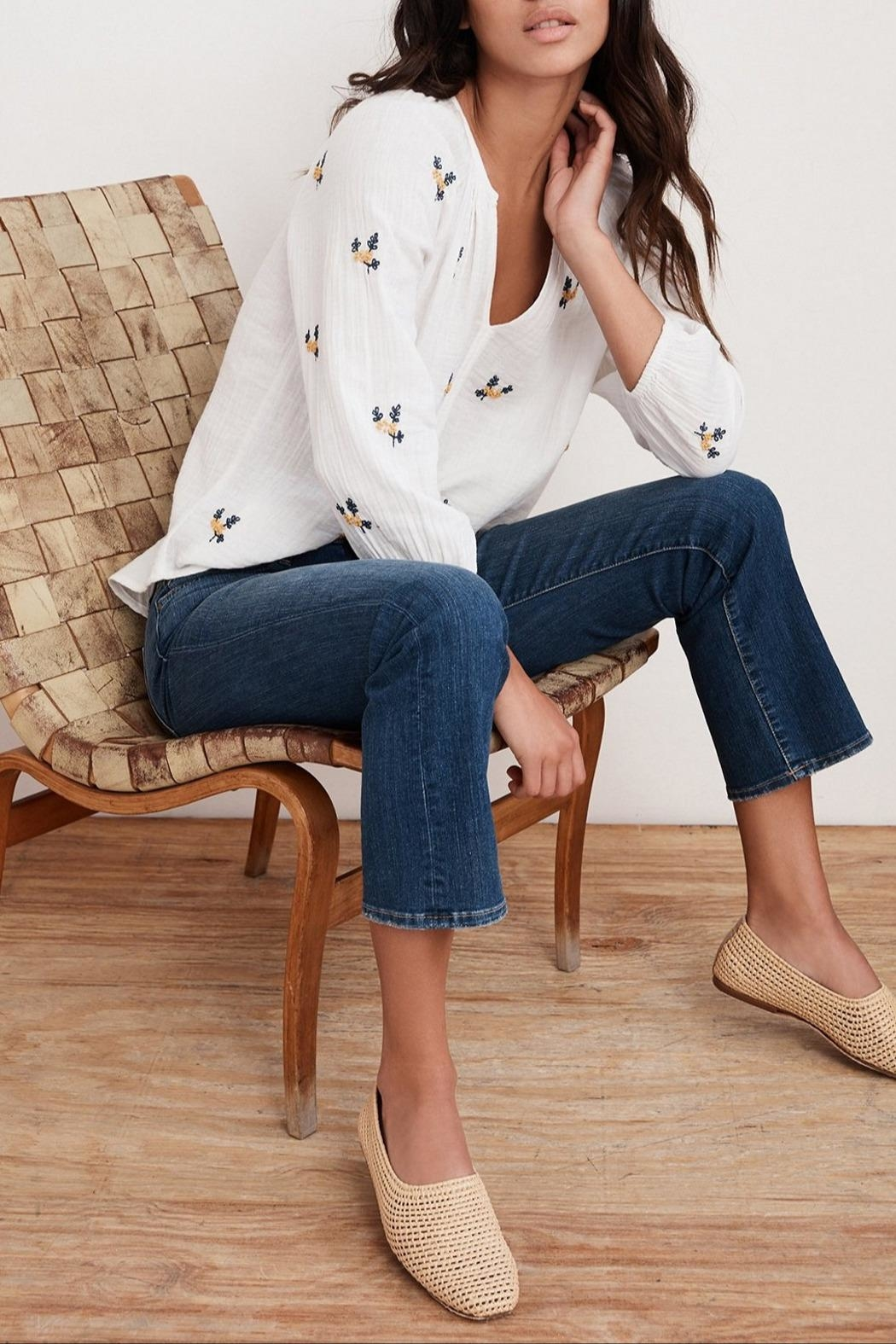Velvet Selma Embroidered Top - Main Image