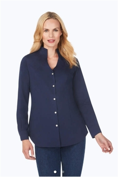 Foxcroft Selma Stretch Tunic Blouse - Product List Image