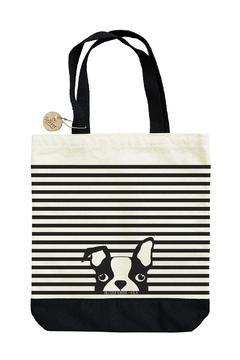 Shoptiques Product: Striped Dog Tote