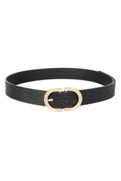 Fame Accessories Semi Circle Buckle Belt - Alternate List Image