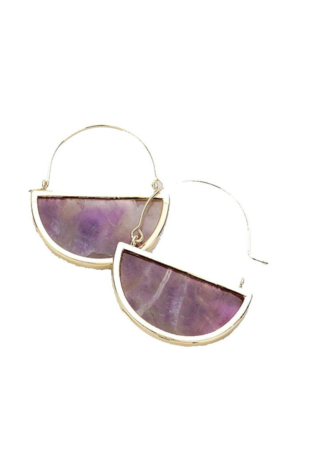 Lets Accessorize Semi Hoop Earring - Front Cropped Image