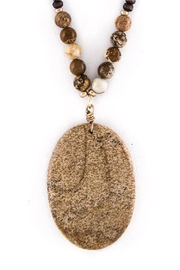Wild Lilies Jewelry  Semiprecious Pendant Necklace - Product Mini Image