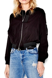 SEN Collection Sydney Black Bomber Jacket - Product Mini Image