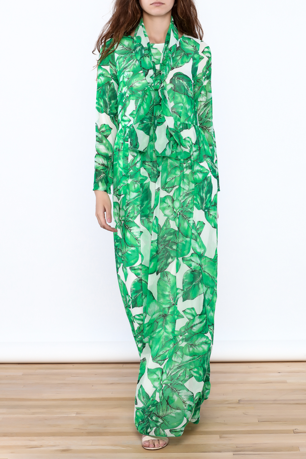 sent with love Banana Leaf Print Dress - Main Image