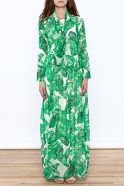 sent with love Banana Leaf Print Dress - Front cropped