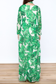 sent with love Banana Leaf Print Dress - Back cropped